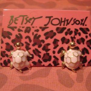 Betsey Johnson Pink Seaturtle Earrings